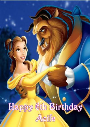 Personalised Beauty and the Beast Birthday Card